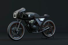 A Cafe racer based on Honda Dream 50.Done in C4d + Physical render