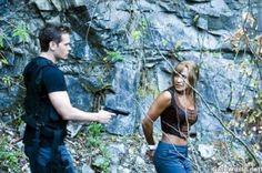 Michael and Teyla on Stargate Atlantis