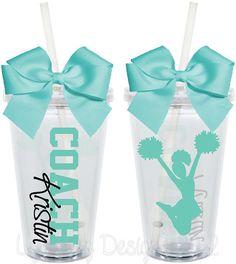 Cheer Coach Cups Teacher Appreciation 16oz by LylaBugDesigns, $15.00