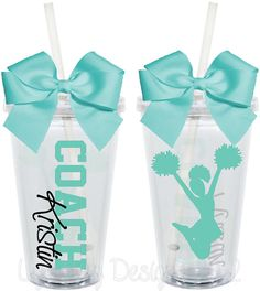 Volleyball Cheer Coach Cups Teacher Appreciation by LylaBugDesigns, $15.00  Cute gift idea for the coach