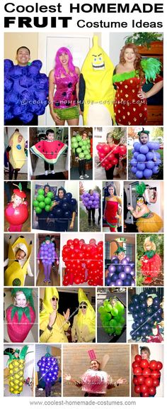 Coolest Homemade Costume Ideas – Find Inspiration for Your Next DIY Halloween Costume Halloween Fruit, Homemade Halloween Costumes, Halloween Costume Contest, Halloween 2014, Halloween Cosplay, Holidays Halloween, Halloween Party, Fruit Costumes, Diy Costumes