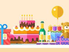 Birthday party illustration           by Beresnev