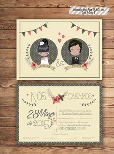 Preciosas invitaciones de boda de Un 6 y un 4  #invitacióndeboda #weddinginvitation