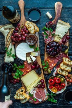 Cheese + fruit + more. Cheese + fruit + more. Plateau Charcuterie, Charcuterie And Cheese Board, Charcuterie Platter, Antipasto Platter, Cheese Boards, Meat Platter, Cheese Board Display, Crudite Platter Ideas, Antipasti Board