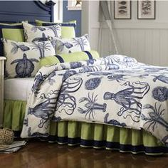 Nautical Bedding Nautical Comforters Comforter Sets Nautical Decor Bedspreads Quilts Pillows Sheets Beach Coastal Nautical Home Decor King Queen Bedding: The Home Decorating Company Coastal Bedding, Coastal Bedrooms, Coastal Decor, Luxury Bedding, Tropical Bedding, Coastal Living, Bright Bedding, Coastal Nursery, Coastal Entryway