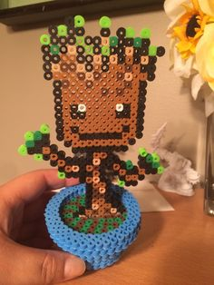 Baby Groot perler beads by Kittens_Galore415