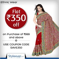 Hurry Up! And Grab this offer to save Rs 350 on a purchase of Rs 999 and above. Use Coupon Code: SAVE350