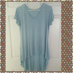 NWOT  Hi-Lo Tee Shirt New never worn Hi-Lo t-shirt, perfect over leggings or jeans paired with cropped denim jacket,  soft cotton and rayon blend Tops Tees - Short Sleeve