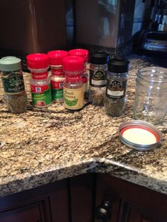 Homemade Greek Seasoning:  1 1/2 teaspoons dried oregano, 1 teaspoon dried thyme, 1/2 teaspoon dried basil,  1/2 teaspoon dried marjoram, 1/2 teaspoon onion powder, 1/4 teaspoon garlic powder.  Triple the recipe and store in a mason jar.  1 TBSP is a serving.