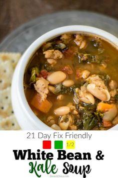 21-day-fix friendly kale recipe: White Bean and Kale Soup