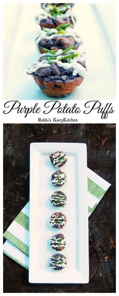 A tasty little potato bite with Parmesan cheese, Greek yogurt, and chives, all wrapped up in a cute little purple package. Perfect for your next party or get together! From www.bobbiskozykitchen.com #SundaySupper @IdahoPotato