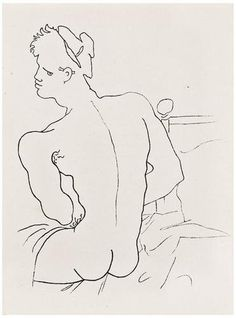 Jean COCTEAU - Querelle de Brest.  29 full-page illustrations by Jean Cocteau of Jean Genet's sadomasochistic, fantasy novel.