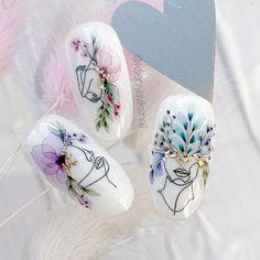 Gel Nails, Acrylic Nails, Nail Polish, Manicure E Pedicure, Mani Pedi, Judy Nails, Chevron Nail Art, Nail Drawing, Water Color Nails