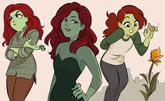 Poison Ivy, Drawing People, Rogues, Harley Quinn, Dc Comics, Disney Characters, Fictional Characters, Character Design, Batman