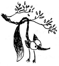 a flexible fox doodled during the sermon at church, Rob Dunlavey