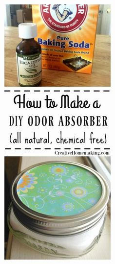 Easy DIY odor absorber you can make from baking soda and essential oils to make your house smell good with no chemicals. One of my favorite cleaning hacks! Easy DIY odor absorber made with baking soda and your favorite essential oil. Deep Cleaning Tips, House Cleaning Tips, Natural Cleaning Products, Cleaning Solutions, Spring Cleaning, Cleaning Hacks, Cleaning Recipes, Natural Products, Cleaning Supplies