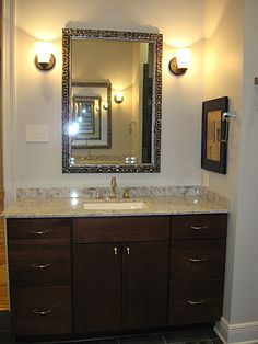Separate oversized master vanity.
