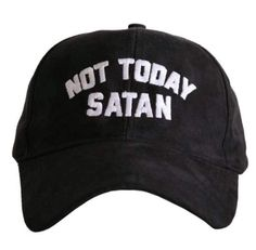 91f0f0e9492 Not Today Satan Black Ultra Suede baseball caps are embroidered and have  curved bill ultra suede one size fits most