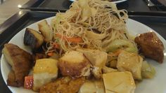 $10.80 lunch special at the Buddhist tea house. BECAUSE YUM! #vegan