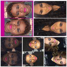 Shades of beauty!  #makeup #shadesofbeauty #pinklips #icannye #makeupartist  #mua