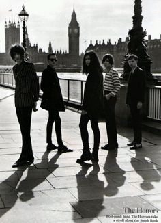 Post-Punk band The Horrors take a stroll along the South Bank.