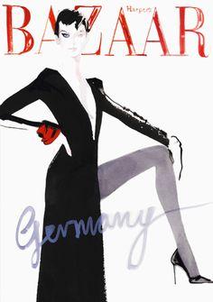 David Downton for Harpers Bazaar