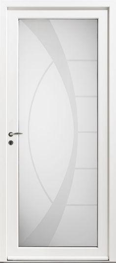 Porte aluminium, Porte entree, Bel\u0027m, Contemporaine, Poignee rosace