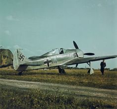 Focke-Wulf Fw 190-A2 from the fighter flying school at the airport.