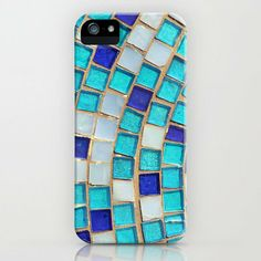 Blue Tiles - an abstract photograph. iPhone & iPod Case by Amelia Kay Photography on Wanelo