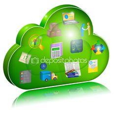 Digital enterprise management in cloud application. Concept icon — Стоковое векторное изображение © jekh #71315909