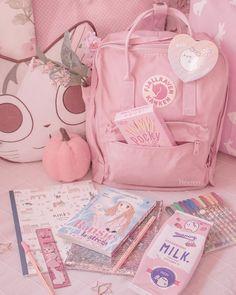 Cute Room Ideas, Cute Room Decor, Study Room Decor, Room Ideas Bedroom, Baby Pink Aesthetic, Aesthetic Bedroom, Japanese Aesthetic, Aesthetic Anime, Kawaii Bedroom
