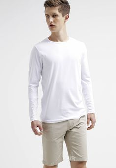 Jack & Jones JJBASIC  - Long sleeved top - optical white for £13.49 (26/09/17) with free delivery at Zalando