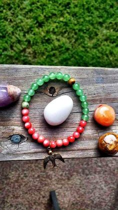 """Free To Prosper"" with Aventurine &Coral Glass Beads available now online  www.jcaniel.com  #Junecaniel #jewelry #handmade #organic #oneofakind"