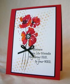 Red Poppies by Pam MacKay - Cards and Paper Crafts at Splitcoaststampers