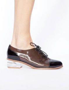Lucia lucite brogues - Shop the latest Fashion Trends  http://www.pixiemarket.com/shoes/lucia-lucite-brogues.html
