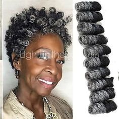 Braiding Hair Bouncy Curl / Saniya Curl Twist Braids / Pre-loop Crochet Braids S. Curly Crochet Braids, Curly Braids, Crochets Braids, Crochet Hair Styles, Short Braids, Short Afro, Curly Hair, Box Braids Hairstyles, My Hairstyle