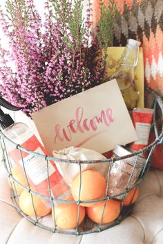 how to build a welcome basket for caldrea
