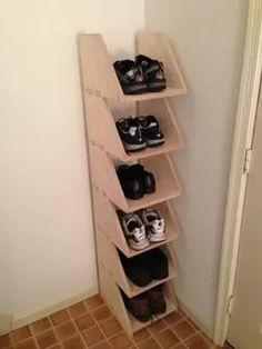 Cozy Diy Shoe Rack Design Ideas For Creative Home Decoration Diy Shoe Storage, Cheap Storage, Laundry Room Storage, Storage Ideas, Storage Solutions, Purse Storage, Smart Storage, Storage Hacks, Diy Shoe Organizer