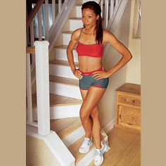 Stair climbers, lunges, and more ways to tone your thighs. #Fitness #LoseWeight #GetToned