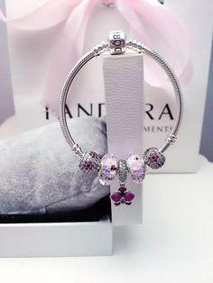 50% OFF!!! $159 Pandora Charm Bracelet Purple. Hot Sale!!! SKU: CB01882 - PANDORA Bracelet Ideas