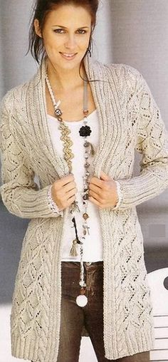 Any Sizes and Any Colors. Made by KnitWearMasters: of Satisfied Customers, World Class Hand Knit Produc Crochet Cardigan, Knit Crochet, Tricot D'art, Long Vests, Knit Jacket, Sweater Jacket, Crochet Clothes, Free Knitting, Knitwear
