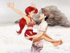 Les personnages Disney dans N'oublie jamais - Ariel et Eric