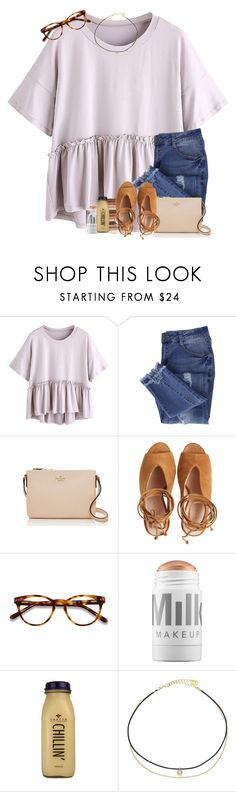 """""""Well I looked good yesterday and my ex suddenly wants to get back together ♀️"""" by mallorykennerly ❤ liked on Polyvore featuring Essie, Kate Spade, tarte, EyeBuyDirect.com, MILK MAKEUP, CO and Jules Smith"""