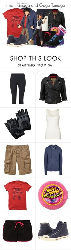 """""""Hiro Hamada and Gogo Tomago // Bethany"""" by rosey-wolf-x ❤ liked on Polyvore featuring Under Armour, Superdry, American Vintage, Old Navy, James Perse, River Island, TWINTIP, Converse, NIKE and women's clothing"""