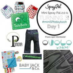 Time to Kick off Day 1 of #miniSPbdaybash! Prizes from TotsBots, Project Pomona, Ovolo, and Baby Jack Co.