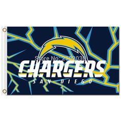 San Diego Chargers Flag Banner With Modified US Flag 3ft X 5ft Polyester Flag World Series Football Team San Diego Chargers Flag