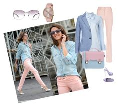 """""""Color Combo: Light Blue, Pink and Purple"""" by southindianmakeup1990 ❤ liked on Polyvore featuring Escada Sport, Gucci, Armani Jeans, La Cartella, Komono, Le Silla, Marc by Marc Jacobs, women's clothing, women and female"""