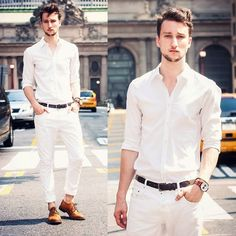 #white #look #men #summer #party