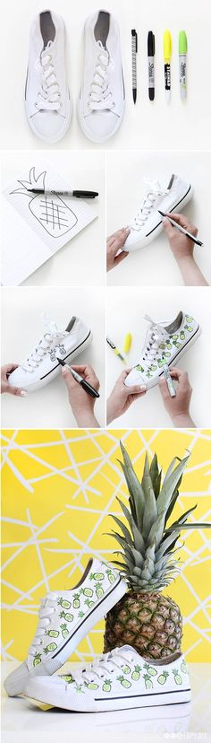 MY DIY | Pineapple Cotton Canvas Sneakers
