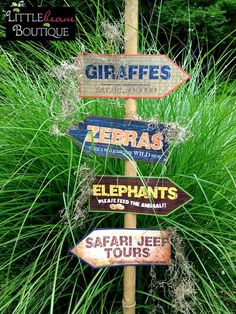 Printable Safari Jungle Signs, DIY, African Safari party signs, jungle party…